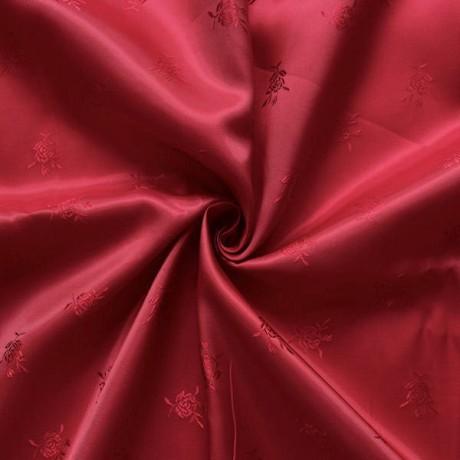 Jacquard Futterstoff Rosen Rot