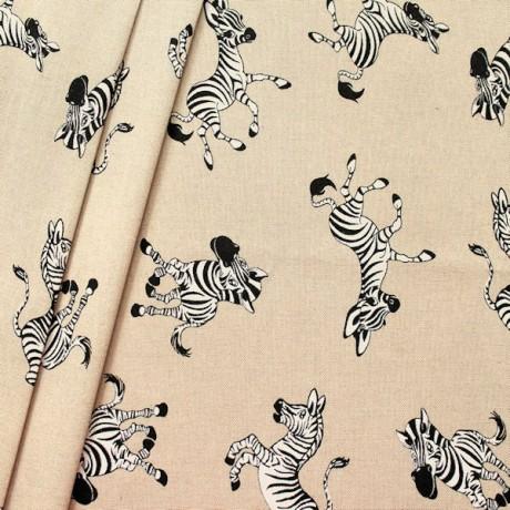 Dekostoff Zebras Natur