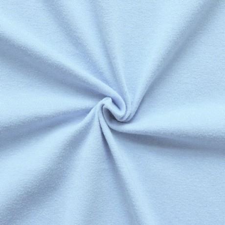 Baumwoll Stretch Jersey Hell-Blau