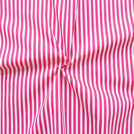 Baumwollstoff Streifen Pink-Weiss