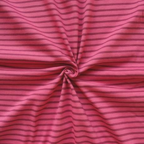 Ringel Jersey Farbe Pink-Lila