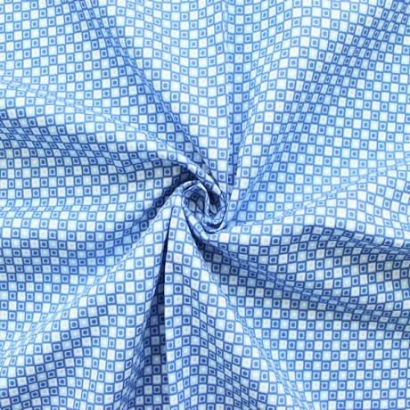 Baumwolle Popeline bedruckt Blau-Weiss