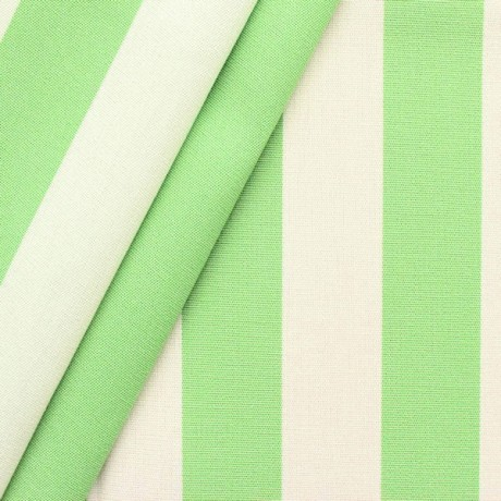 Markisenstoff Outdoorstoff Streifen Pistazien-Grün Weiss