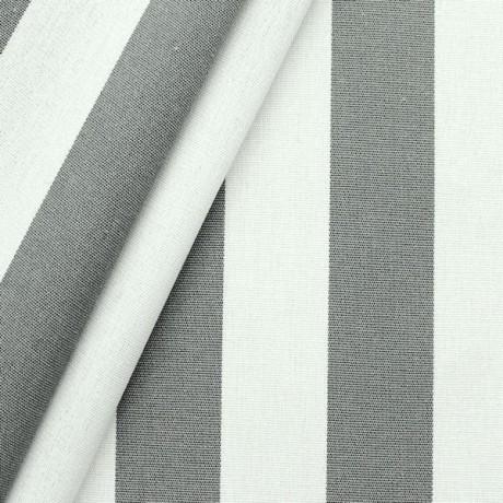 Markisenstoff Outdoorstoff Streifen Grau Weiss