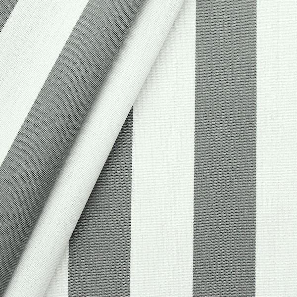 Markisen Outdoorstoff Streifen Breite 160cm Farbe Basalt