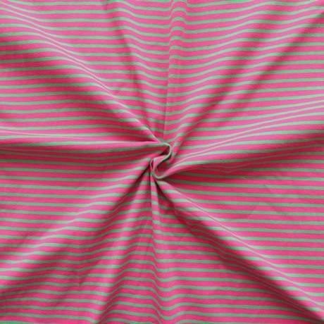 Ringel Jersey Pink-Grün