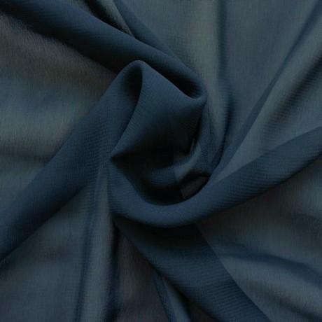 Polyester Chiffon Dunkel-Blau