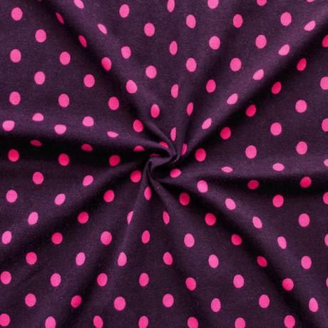 Baumwoll Stretch Jersey Punkte Lila-Pink