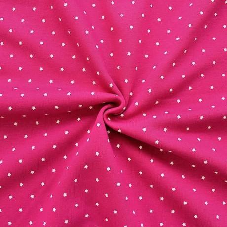 Sweatshirt Baumwollstoff Sterne Pink