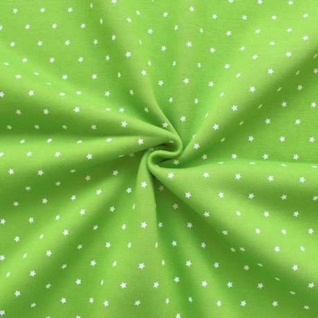 Sweatshirt Baumwollstoff Sterne Lind-Grün