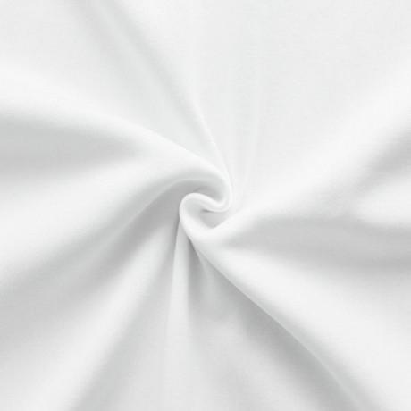 Sweatshirt Baumwollstoff Weiss