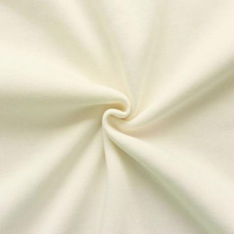 Sweatshirt Baumwollstoff Creme-Weiss