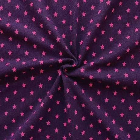 Baumwoll Stretch Jersey Sterne Lila-Pink
