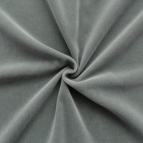 Baumwoll Bekleidungs / Deko Samt Grau