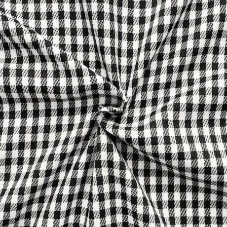 Modestoff / Dekostoff Vichi-Karo Schwarz-Weiss