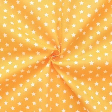 Baumwollstoff Sterne Gelb