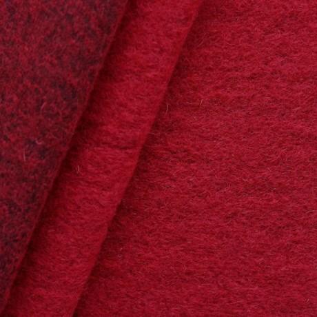 Wollmix Walkstoff Rubin-Rot