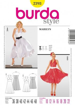 Marilyn - 50er-Jahre, Gr. 36 - 48, Schnittmuster Burda 2393