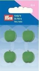 Prym Kids 4 Stück Knopf Ösen Apfel Grün