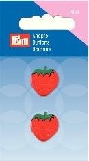 Prym Kids 2 Stück Knopf Ösen Erdbeere Rot