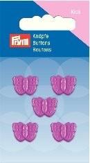 Prym Kids 5 Stück Knopf Ösen Schmetterling Pink