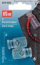 Prym 2 Stück Kordelstopper transparent