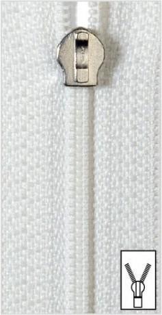 Reißverschluss S10 SB Bettwäsche 135cm weiß