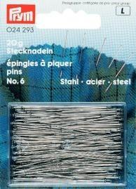 Prym Stecknadeln, Stahl gehärtet, silberfarbig 30 x 0,60 mm VPE 20g