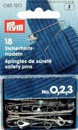Prym Sicherheitsnadeln, No. 0, 2, 3 sortiert silberfarbig VPE 18 Stück