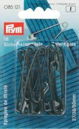 Prym Sicherheitsnadeln, No. 0, 2, 3 sortiert schwarz VPE 18 Stück