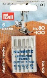 Prym Sortiment Spezial Nähmaschinennadeln mit Flachkolben Leder No. 80-100