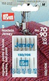 Prym Sortiment Spezial Nähmaschinennadeln mit Flachkolben Jersey No. 70-90