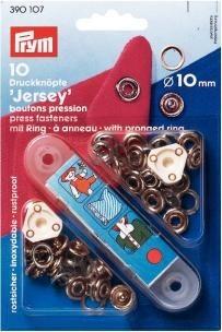 Prym 10 Stück Druckknöpfe Jersey 10mm silberfarbig