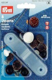 Prym 8 Stück Jeans-Knöpfe Lorbeerkranz 17mm