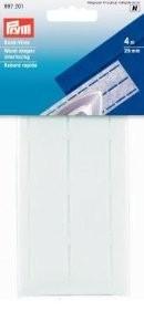 Prym 4m Bund-Vlies perforiert 25mm breit weiß