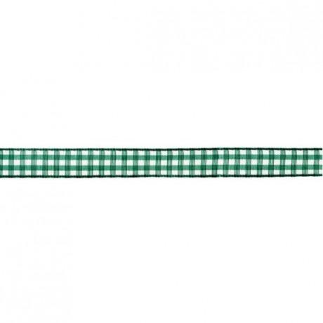 Prym Dekoband kariert 10mm x 4m (Breite / Länge) grün / weiss