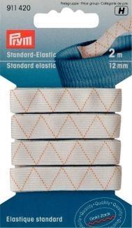 Prym 2m Standard-Elastic 12mm breit weiß