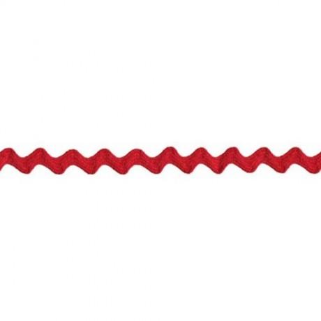 Prym Zackenlitze 10mm x 3m (Breite / Länge) rot