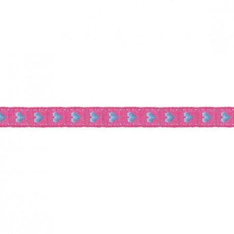 Prym Borte mit Herz 10mm x 2m (Breite / Länge) pink / blau