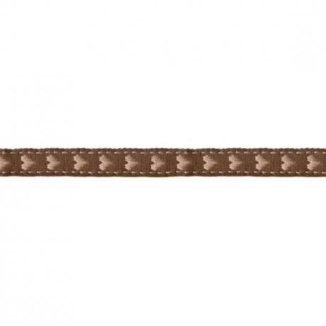 Prym Borte mit Herz 10mm x 2m (Breite / Länge) braun / beige
