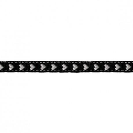 Prym Borte mit Herz 10mm x 2m (Breite / Länge) schwarz / weiss