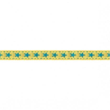 Prym Borte mit Stern 10mm x 2m (Breite / Länge) gelb / türkis