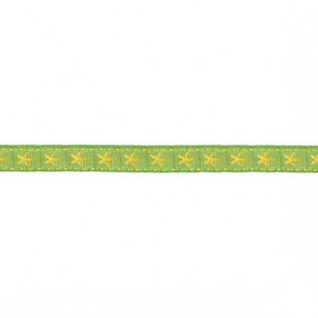 Prym Borte mit Stern 10mm x 2m (Breite / Länge) grün / gelb