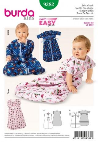 Baby-Schlafsack, Gr. 62 - 92, Schnittmuster Burda 9382