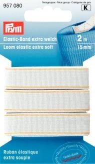 Prym 2m Elastic-Band extra weich 15mm breit weiß