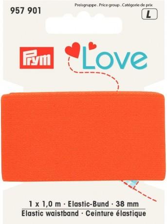 Prym Love 1m Elastic-Bund 38mm breit orange