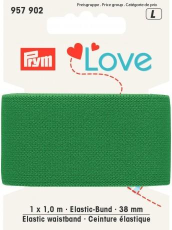 Prym Love 1m Elastic-Bund 38mm breit grün