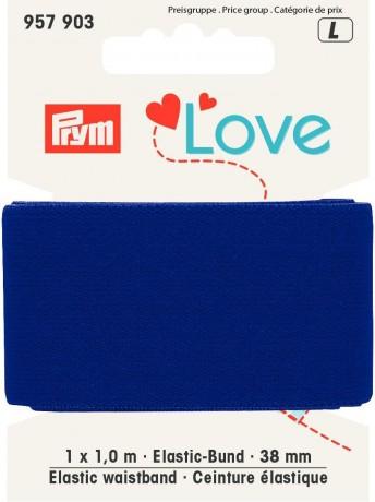 Prym Love 1m Elastic-Bund 38mm breit blau