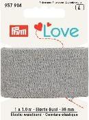 Prym Love 1m Elastic-Bund 38mm breit grau