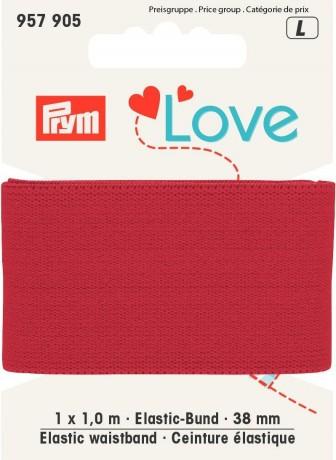 Prym Love 1m Elastic-Bund 38mm breit rot